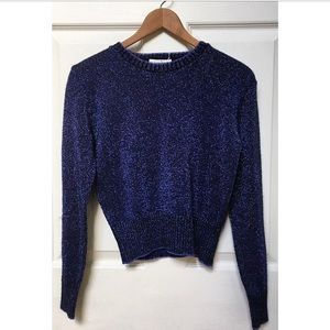 Vintage 70s Metallic Sparkle Sweater